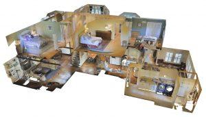 Visual Walkthrough of a home using 3D Matterport