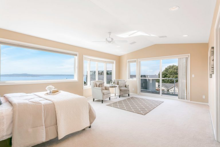 Ocean view residential real estate bedroom